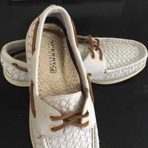 Sperry Top - Sider woven leather shoes
